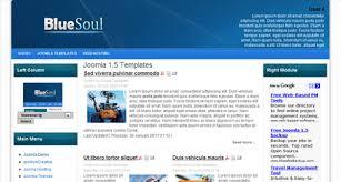 templates free joomla blue professional free joomla 1 5 template