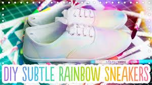 diy subtle rainbow canvas shoes trick your kicks with michaels