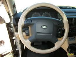 land rover steering wheel 2003 land rover discovery se7 alpaca beige steering wheel photo