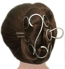 hair fork folding hair bun holder nickel silver hair cage u shaped hair fork
