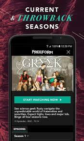 freeform u2013 stream full episodes movies u0026 live tv android apps