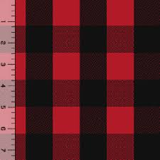 black buffalo plaid cotton spandex knit fabric by charlee