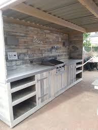 outdoor kitchen cabinet door hinges pallets outdoor kitchen recyclart the cupboard doors