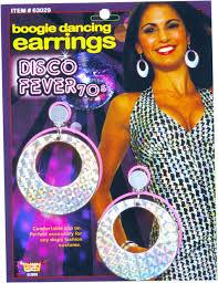 70 s earrings women s 70s style disco earrings 70s costume jewelry