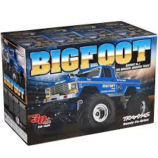 bigfoot electric monster truck traxxas 1 10 bigfoot 1 original monster truck rtr towerhobbies com