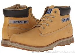 caterpillar mens brown dark boots shoes galvin steel toe work
