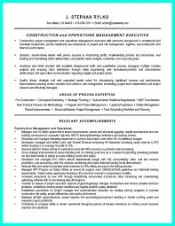 Program Manager Resume Pdf Cool Construction Project Manager Resume To Get Applied