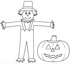 fresh coloring pages scarecrow printable for grow coloring skill