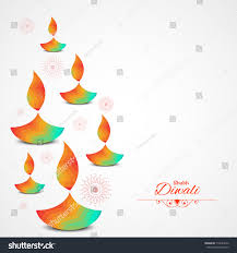 diwali festival background template lamp floral stock vector