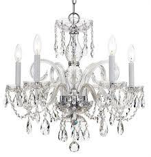 Crystal Glass Chandelier Crystorama Crystorama Traditional Crystal 5 Light Swarovski