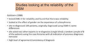 Icd 9 Blind A2 Unit 4 Clinical Psychology 4 Content Reliability Of The