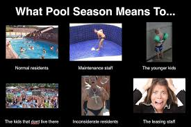 property management pool season meme so very true property