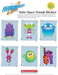 astroblast outer space friends stickers parents scholastic com