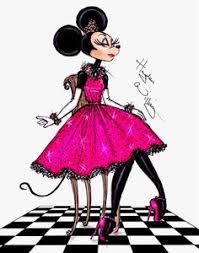 minnie mouse drawing inked mice hayden williams
