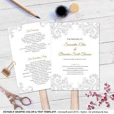 diy fan programs diy wedding fan program fan wedding program templates printable