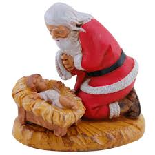 kneeling santa christmas gifts the catholic company