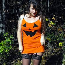 made to order jack o lantern halloween costume womens orange