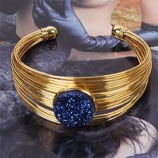 multi metal bracelet images Exaggerated multi metal diamond encrusted bracelet round package jpg