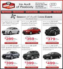 audi a5 lease specials car deals at ira audi of peabody boston sale and lease specials