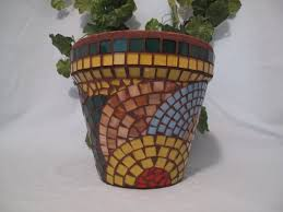 Flower Pots - 731 best mosaic flower pots images on pinterest mosaic vase