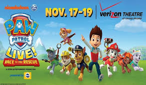 paw patrol live race rescue verizon theatre grand prarie