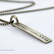 Mens Engraved Necklaces Shop Personalized Hand Stamped Necklace On Wanelo