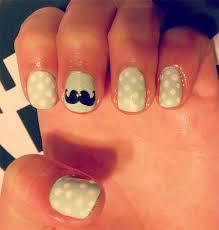 cute u0026 easy moustache nail art designs ideas u0026 trends 2014