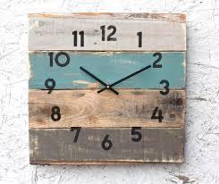 rustic house decor coastal theme reclaimed wood clock so