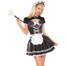 halloween costumes on sale for adults flirty french maid halloween costume