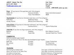 Basketball Resume Template For Player Download Modeling Resume Template Haadyaooverbayresort Com