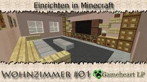 Wohnzimmer In English Minecraft Wohnzimmer 01 Einrichten In Minecraft Youtube