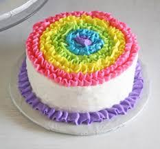 rainbow birthday cake designs