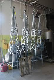 Obelisk Trellis Metal Round Top Classic Garden Obelisks In Hand Made Wrought Iron