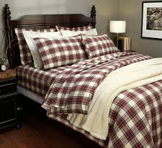 bedroom interesting bed decor ideas with pattern plaid flannel
