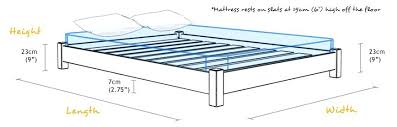 Height Of Bed Frame Standard Bed Frame Height Wooden Bed Frame Sizes And Dimensions