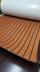 foam faux teak decking sheet light brown marine boat 35 x 91