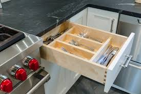 kitchen drawer design modern kitchen remodel with elmwood cabinets and wolf duel range