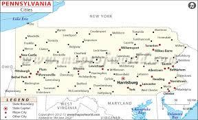 pennsylvania state map cities in pennsylvania pennsylvania cities map