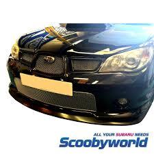 subaru vortex generator scoobyworld front lips u0026 rear spoilers
