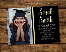 high school graduation announcement graduation invitation etsy