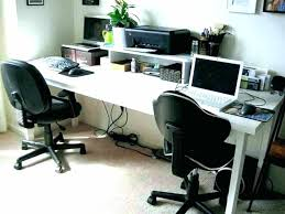 Home Office Furniture Computer Desk 2 Person Desks Dragtimes Info