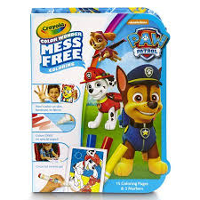crayola color paw patrol coloring pages u0026 mess free