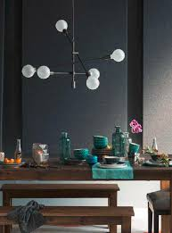 mobile exposed bulb chandelier west elm environment home