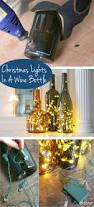 how to put christmas lights in a wine bottle bottle display