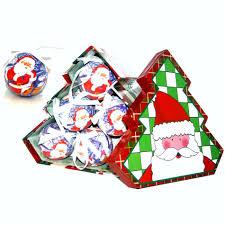 Christmas Ornament Storage Uk by Santa Christmas Baubles Tree Shaped Storage Gift Box Set Of 12