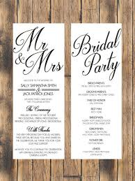 wedding program simple wedding program simple weddings wedding programs and