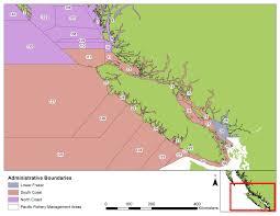 pacific region map scientific licences coastal pacific region fisheries and
