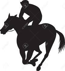 ferrari horse jockey on horse clipart 35