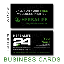 card herbalife business card template