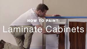 Can You Spray Paint Kitchen Cabinets by How To Paint Laminate Kitchen Cabinets Youtube